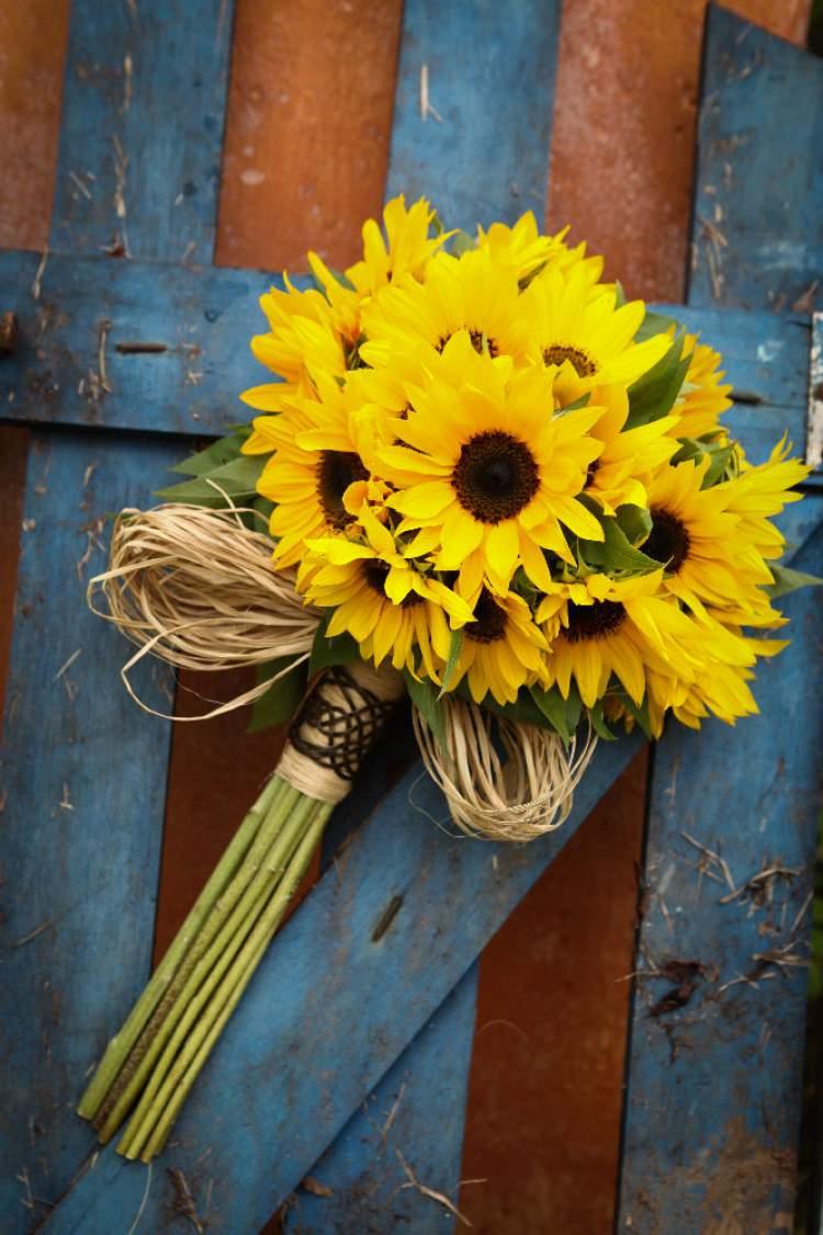 Girassol é uma das flores para buquês e arranjos