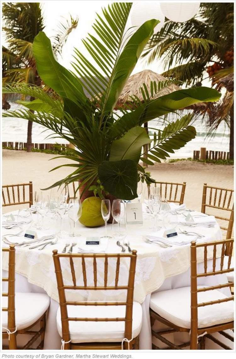 Sugestão para decorar um casamento com folhagens