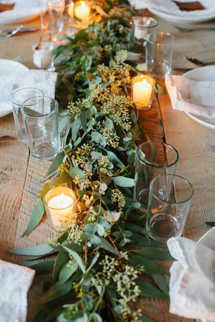 Decoração de casamento com muito verde