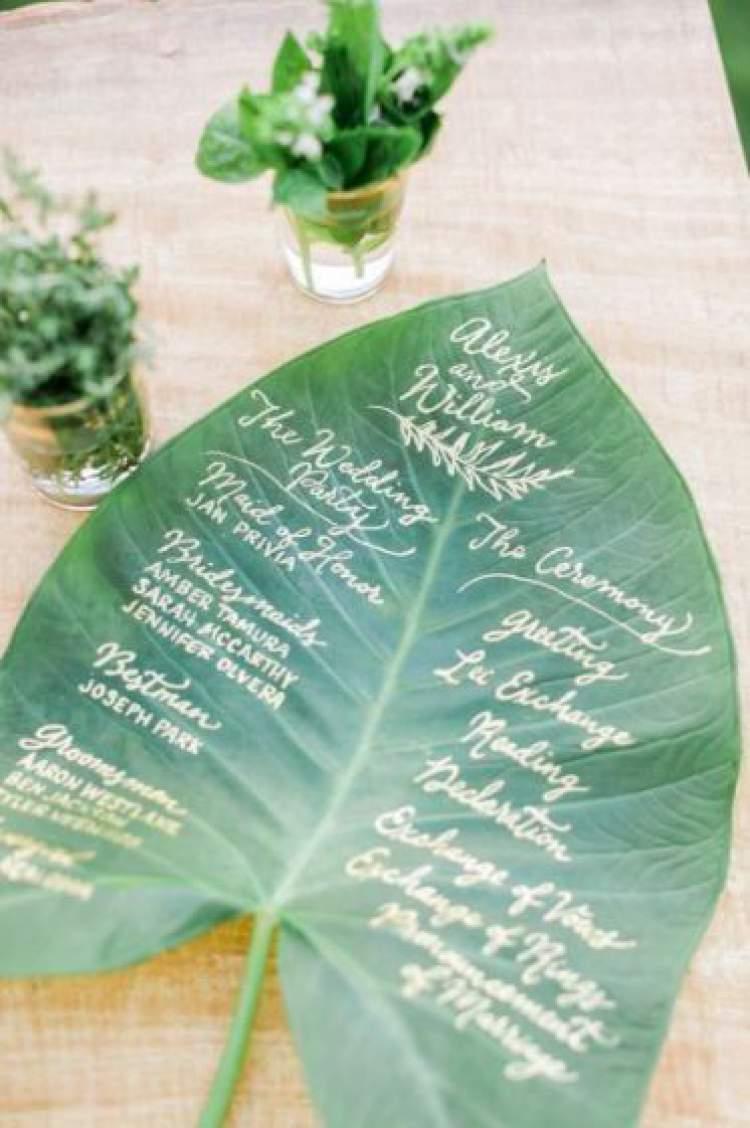 Dicas para decorar a festa de casamento com folhagens