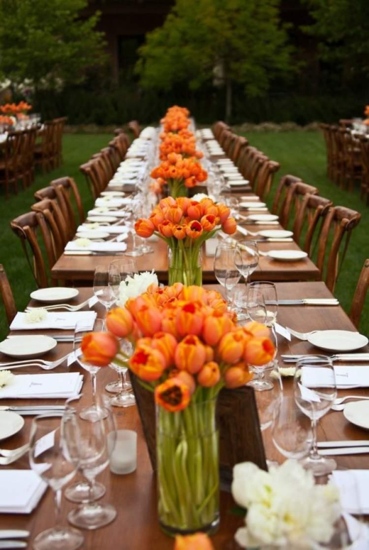 Ideias de arranjos de tulipas