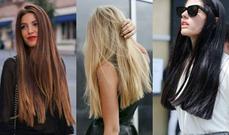 Longo com pontas retas é uma das tendências em cortes de cabelo 2018