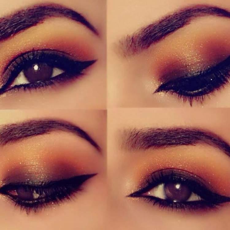 Maquiagem para quem tem olhos castanhos: Olhos solar