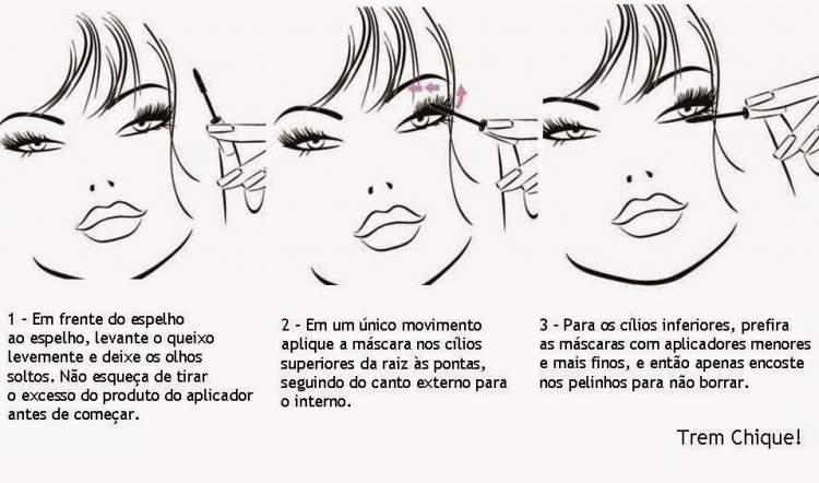 Aplique a máscara de cílios corretamente para deixar os olhos mais expressivos