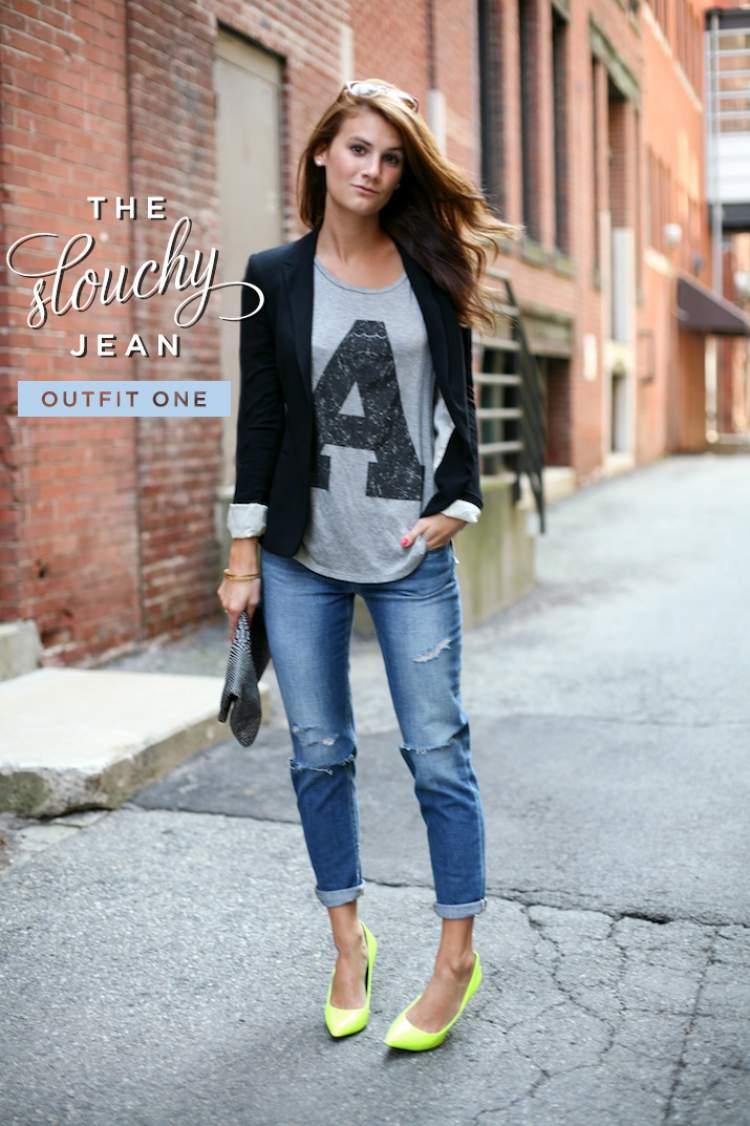 Look casual – Jeans boyfriend