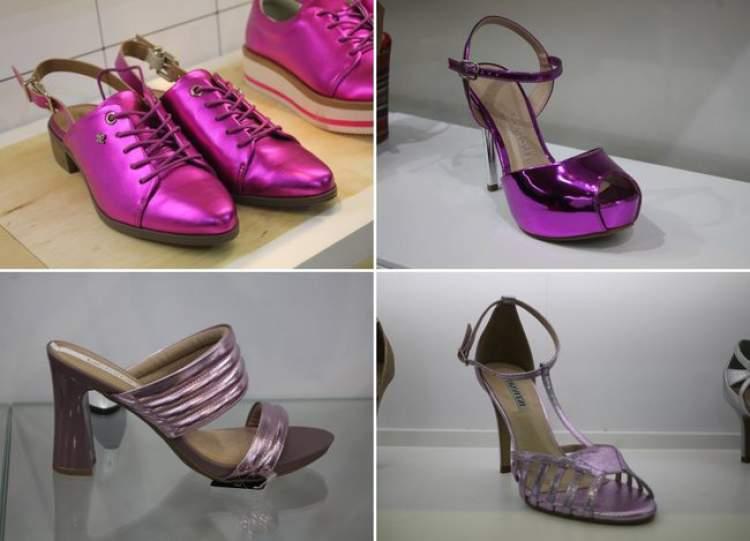 Metal rosa é uma das tendências em calçados para o verão 2018