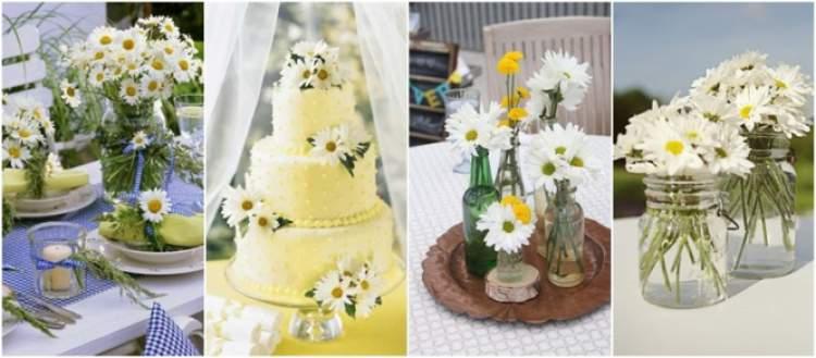 As melhores flores para casamento na Praia: Margaridas