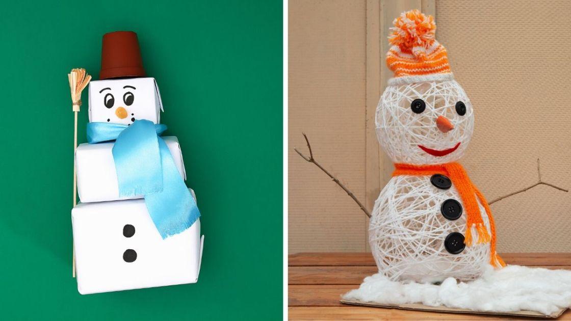 Bonecos de neve para decoração de Natal