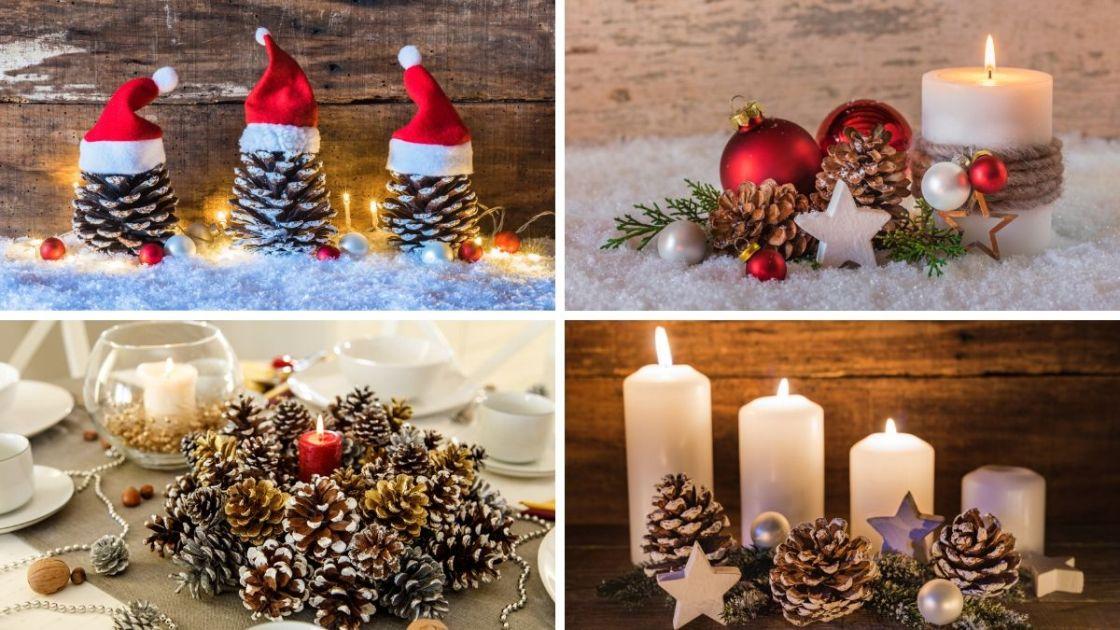 Decoração de Natal com pinha
