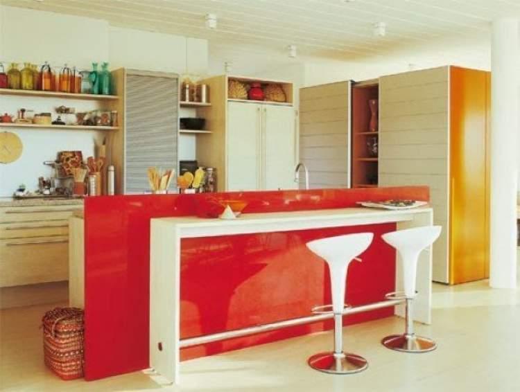 Balcão de cozinha de vidro