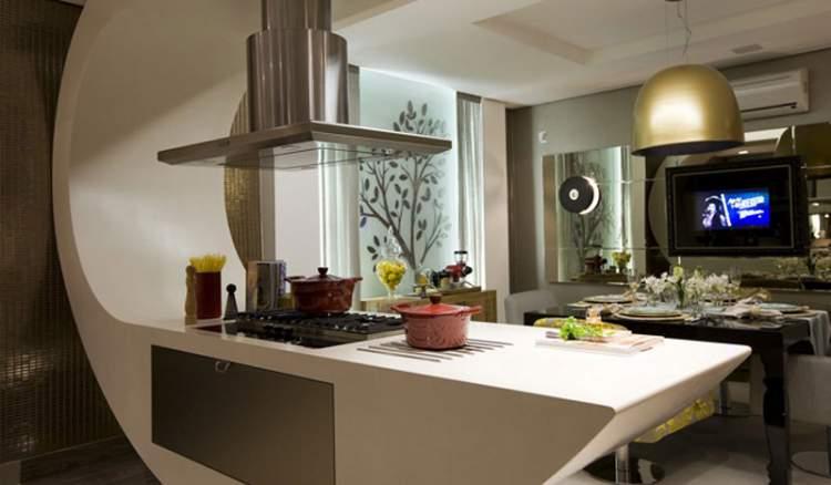 Balcão de cozinha luxuoso