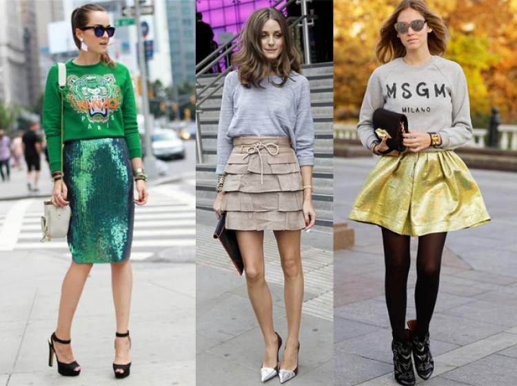 Moletom + peça fashionista