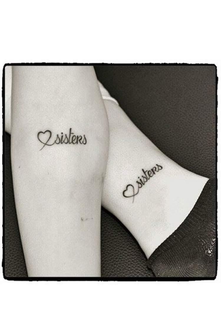 Tatuagem delicada para homenagear as irmãs