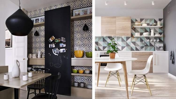 Use o papel de parede para deixar a decoração mais bonita e econômica