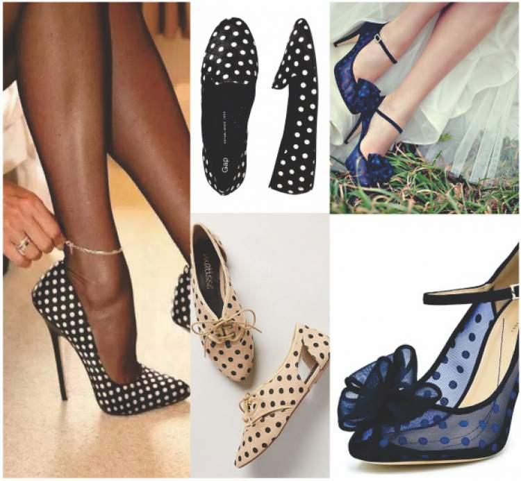 Sapatos com estampa poá