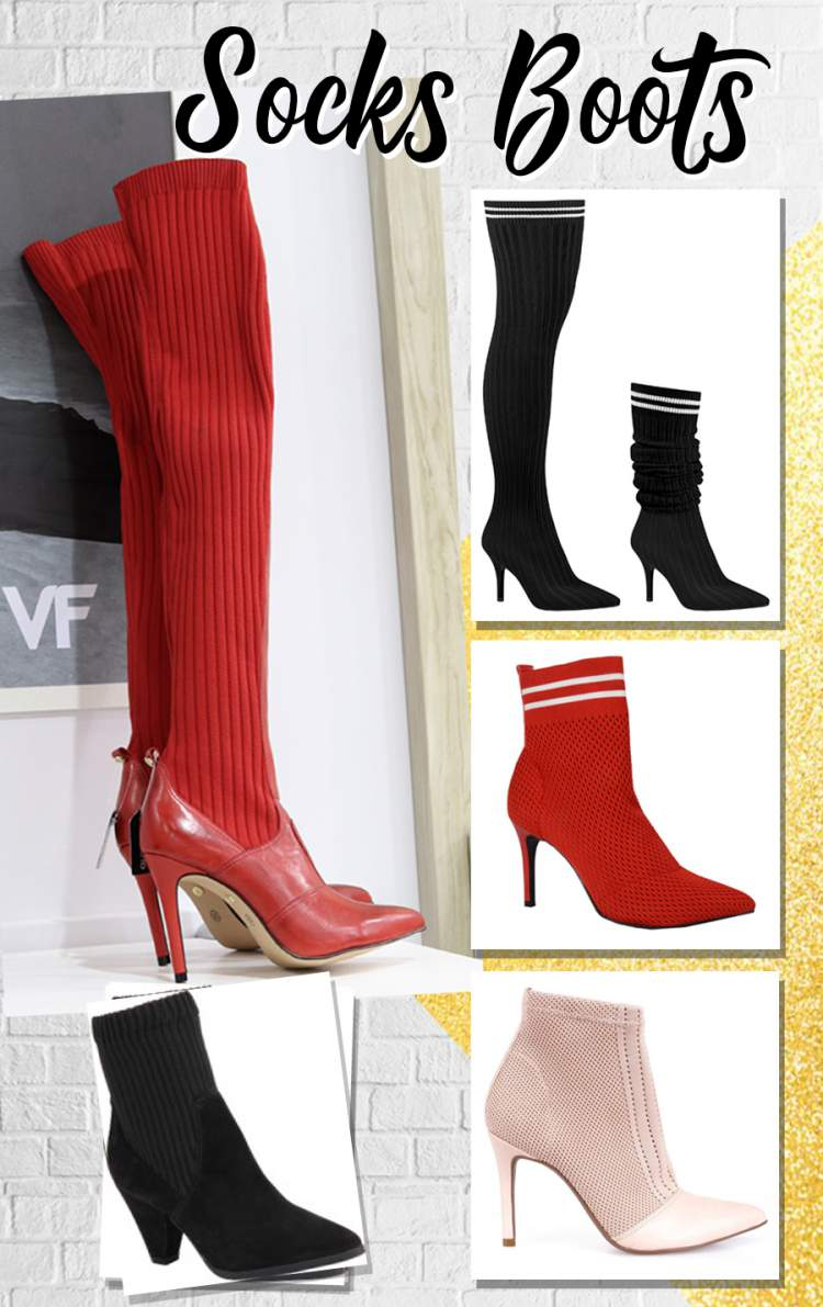 Socks Boots entre as tendências de botas para o inverno 2018