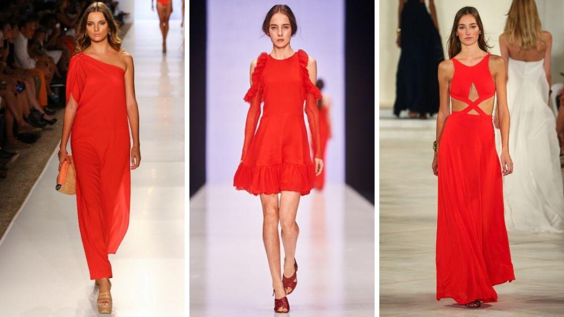 O vermelho é uma das cores que estarão em alta no verão