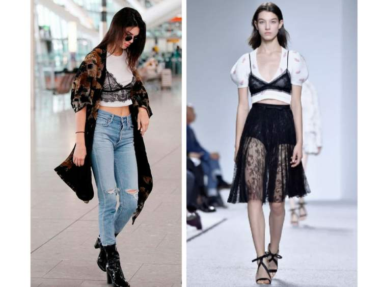 Bralettes é uma das tendências da moda primavera 2018