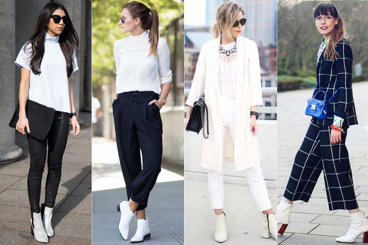 Ankle boot branca é tendencia da moda outono/inverno 2018