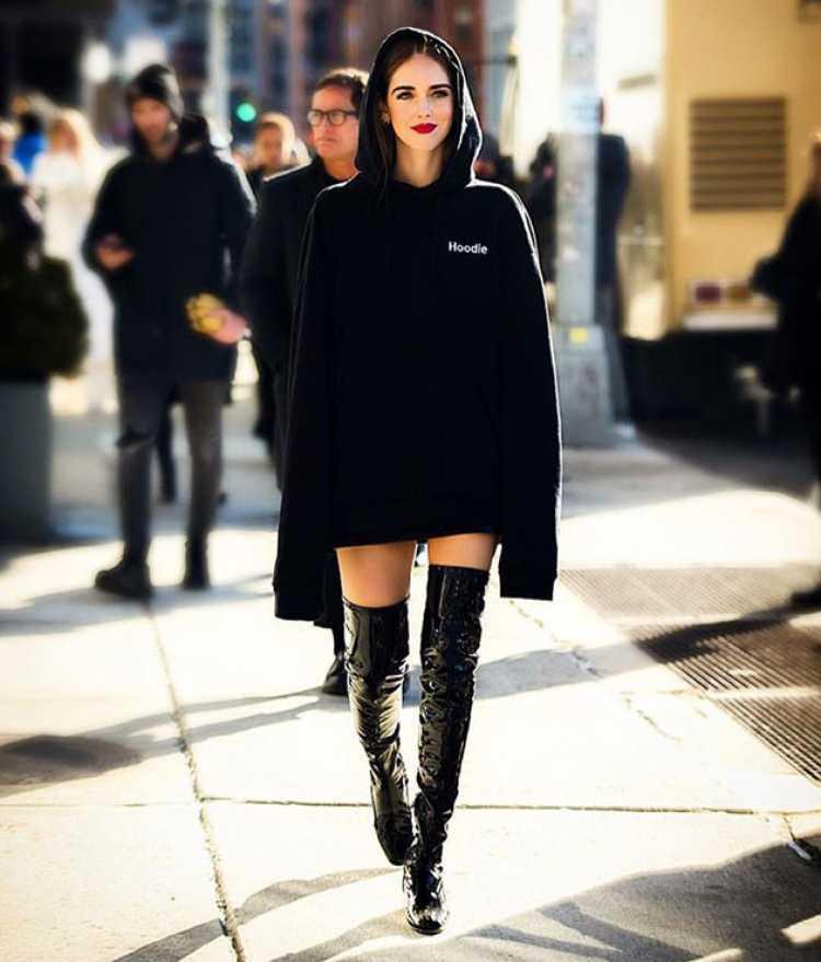 Bota over the knee é um dos modelos de botas que você vai querer usar no inverno 2018