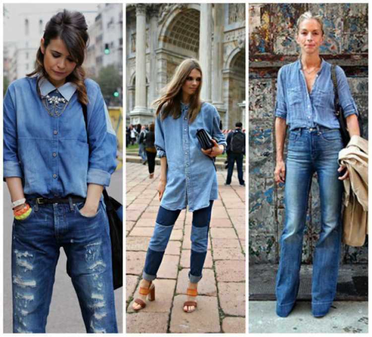 Look total jeans