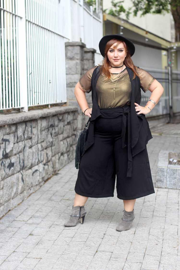 Mulher plus size pode usar calça pantacourt
