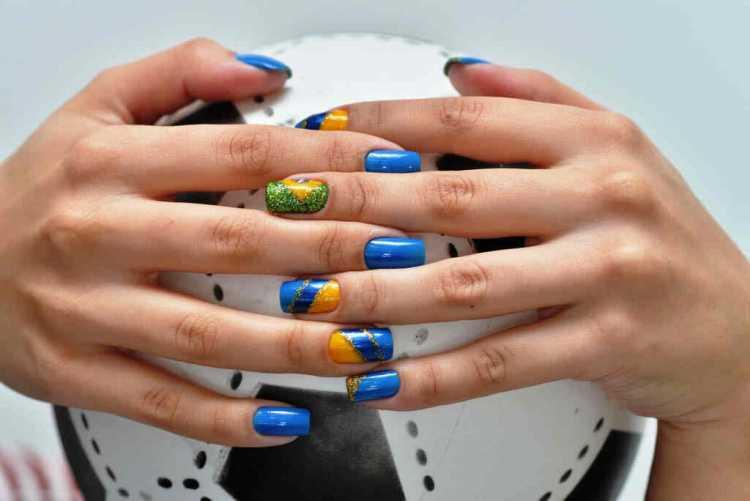 Nail Art para copa do mundo