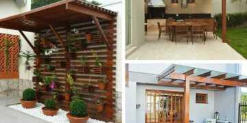 ideias de pergolado para quintal pequeno
