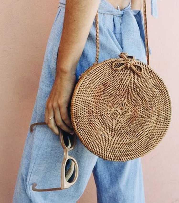 Bolsas de palha é uma das tendências da moda verão 2019