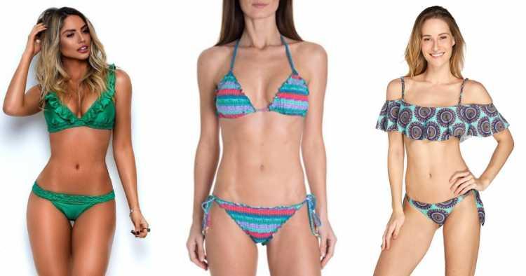 Babados e franzidos é uma das tendências da moda praia no verão 2019