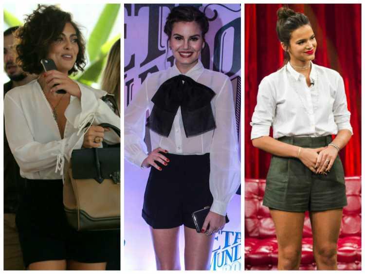 Camisa branca com shorts é uma das inspirações para quem gosta de usar shortinhos no verão