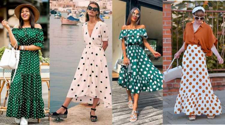 Looks fluidos com estampa de poás é uma das tendências de roupas leves para o verão 2019