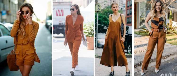 Looks leves com tons terrosos é uma das tendências de roupas leves para o verão 2019