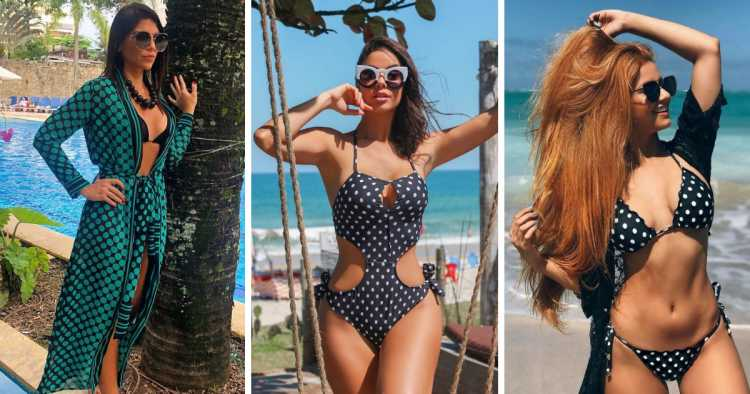 Poá é uma das tendências da moda praia no verão 2019