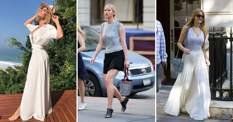 Roupas de tecido natural é uma das tendências de beleza e moda 2019 das famosas
