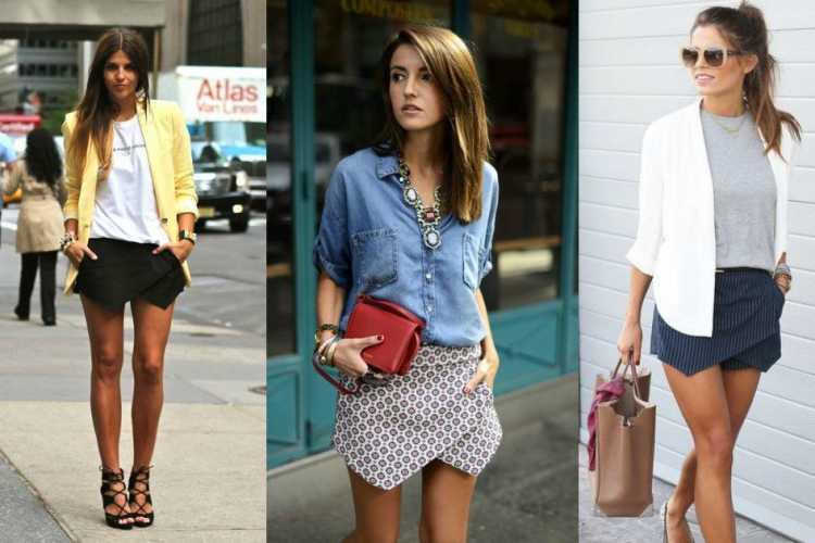 Shorts saia assimétrico é uma das inspirações para quem gosta de usar shortinhos no verão