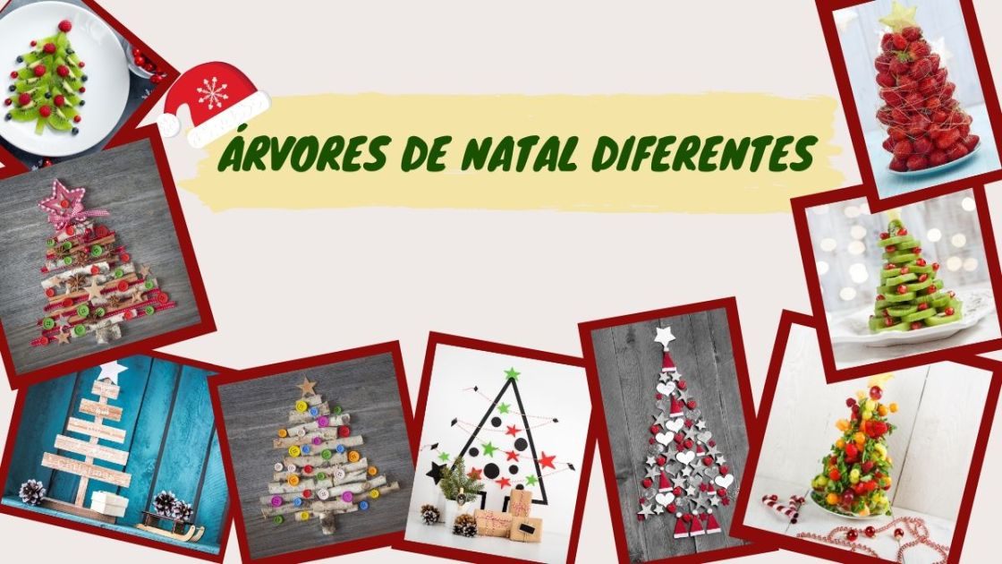 Árvores de Natal criativas