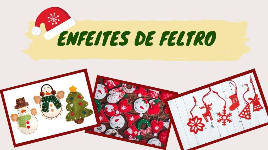 Decoração natalina com feltro artesanal