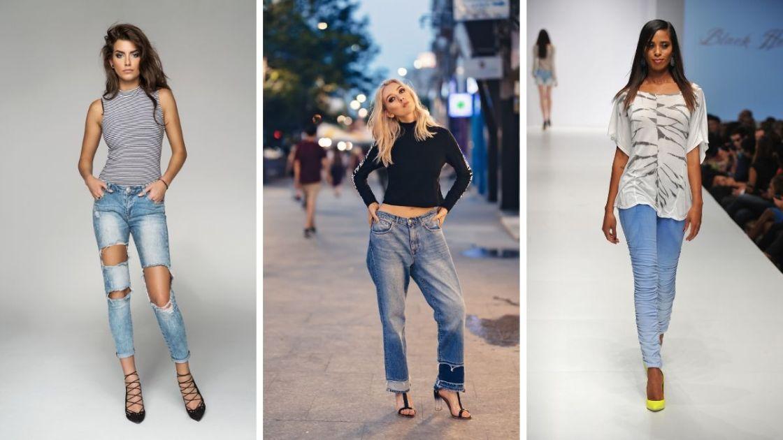 Ideia de look que combina com o natal com calça jeans