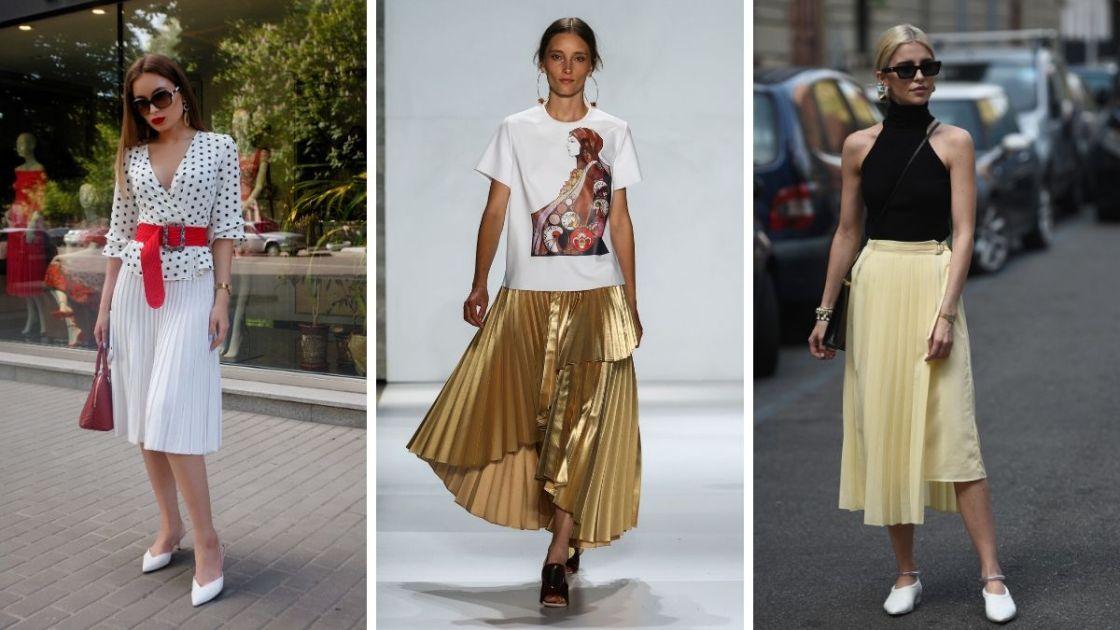 Ideias de look que combina com o natal com saia plissada