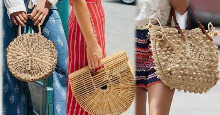Bolsas de palha é uma das tendências de moda que seguirão absolutas em 2019