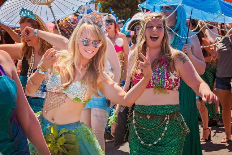 Sereia fantasia de carnaval