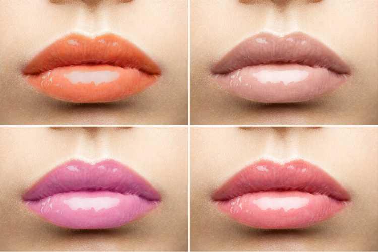 Maquiagem para sessão de fotos com batons rosas e nude