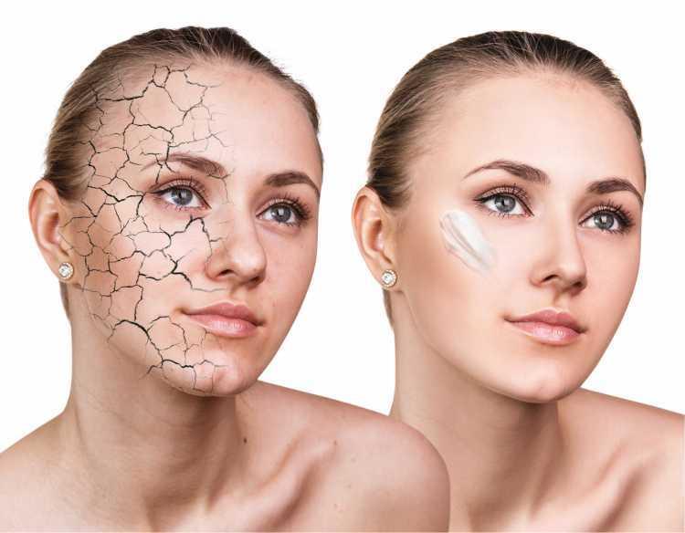 Maquiagem para sessão de fotos hidratando o rosto