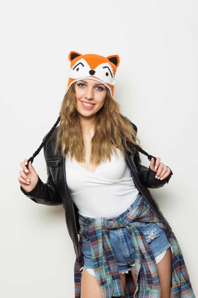 Touca ou Gorro Feminino divertido de tigre