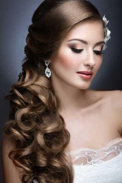 Maquiagem para noiva com cabelo semi preso