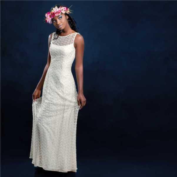 vestido de noiva com renda