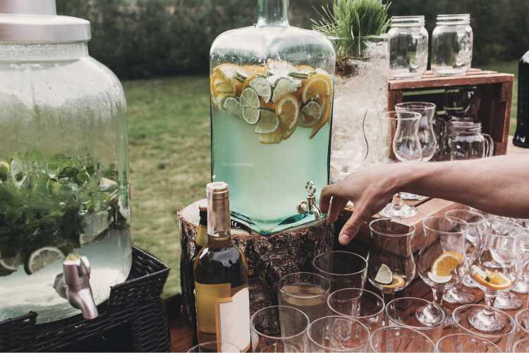 bebidas criativas para casamento em casa
