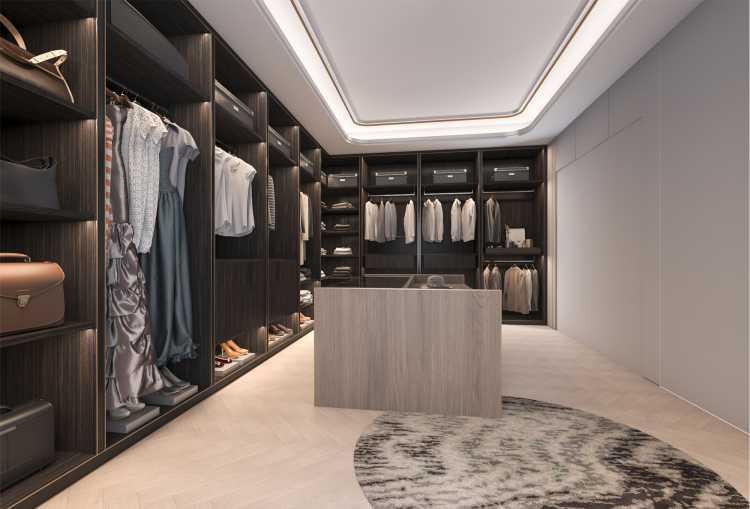 closet em madeira com bancada