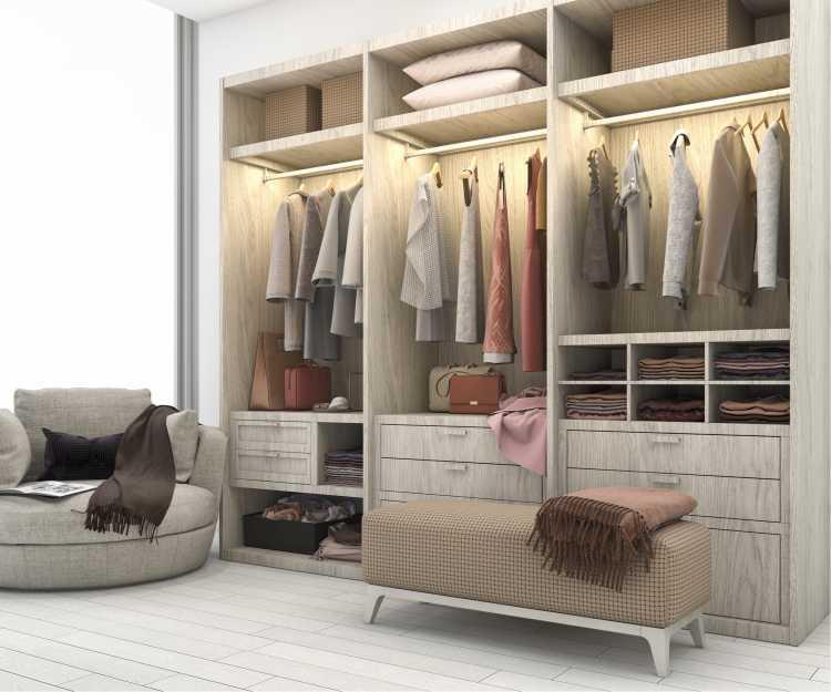 closet romântico todo iluminado